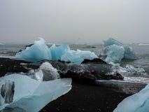 Ijsbergen op Atlantische kusten Royalty-vrije Stock Foto's