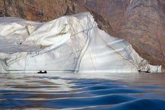 Ijsbergen - Scoresbysund - Groenland Stock Foto