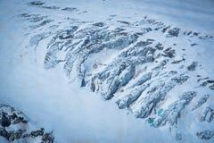 Ijsberglawine op de Matterhorn-berg Stock Afbeelding