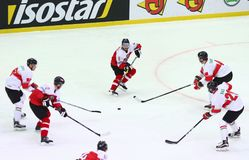 Ijshockey 2017 Wereldkampioenschap Afd. 1 in Kyiv, de Oekraïne stock foto's