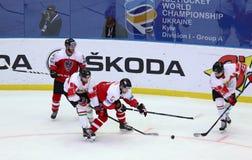 Ijshockey 2017 Wereldkampioenschap Afd. 1 in Kyiv, de Oekraïne royalty-vrije stock foto