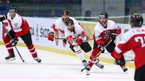 Ijshockey 2017 Wereldkampioenschap Afd. 1 in Kyiv, de Oekraïne stock foto
