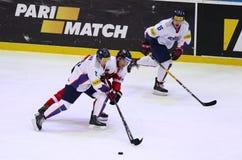 Ijshockey 2017 Wereldkampioenschap Afd. 1A in Kyiv, de Oekraïne Royalty-vrije Stock Fotografie