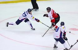 Ijshockey 2017 Wereldkampioenschap Afd. 1A in Kyiv, de Oekraïne Stock Afbeelding