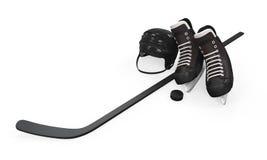 Ijshockeymateriaal Royalty-vrije Stock Foto's