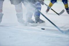 Ijshockeyspeler in actie Royalty-vrije Stock Fotografie