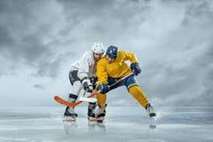 Ijshockeyspelers Stock Foto