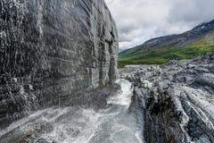 Ijshol bij Worthington-Gletsjer in Alaska Verenigde Staten van Ameri royalty-vrije stock fotografie