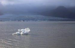 Ijsijsschollen op de de gletsjerlagune van meerfjallsarlon Royalty-vrije Stock Foto's