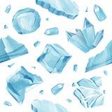 ijskappensneeuwbanken, ijskegelspatroon Royalty-vrije Stock Afbeelding