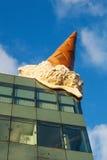 Ijskegel op een dak in Keulen Royalty-vrije Stock Foto