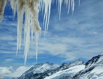 Ijskegel op Jungfrau, berg Royalty-vrije Stock Fotografie