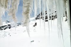 Ijskegel op Jungfrau, berg Stock Foto