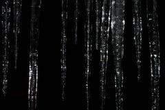 Ijskegels bij Nacht Royalty-vrije Stock Afbeeldingen