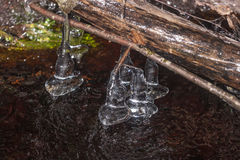 Ijskegels boven het water royalty-vrije stock fotografie