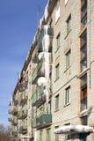 Ijskegels op balkons Stock Afbeelding