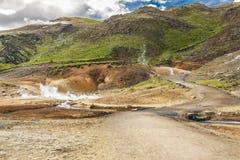 IJsland - geothermisch gebied dichtbij Grindavik. Stock Fotografie