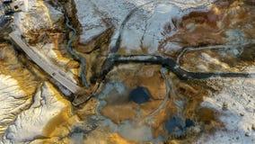 ijsland Het Geothermische gebied van Krysuvikseltun Mening van hierboven royalty-vrije stock afbeeldingen