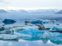 IJsland - het Smelten van een gletsjer stock foto's