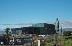 IJsland, Reykjavik, 3 Augustus, 2016: Harpa Reykjavik Concert Hall stock fotografie