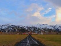 Ijslands dorp Stock Afbeelding