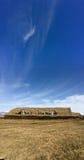 Ijslands grashuis, blauwe hemel, Glaumbaer, IJsland Stock Afbeeldingen