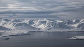 Ijslands landschap Eyjafjordur stock fotografie