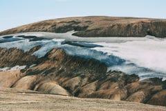 Ijslands landschap Mooie bergen en vulkanisch gebied Stock Afbeeldingen