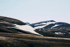 Ijslands landschap Mooie bergen en vulkanisch gebied Royalty-vrije Stock Foto
