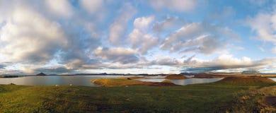 Ijslands meergebied myvatn Stock Fotografie