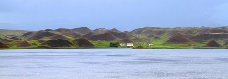 Ijslandse countraside, Noord-IJsland royalty-vrije stock foto's