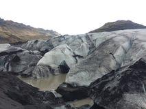 Ijslandse Gletsjer stock afbeeldingen