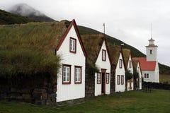 Ijslandse huizen Royalty-vrije Stock Afbeelding