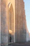 Ijslandse Lutheran kerk Hallgrimskirkja in Reykjavik Stock Afbeeldingen