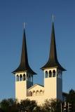 Ijslandse Lutheran Kerk in Reykjavik Stock Afbeelding