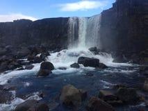 Ijslandse waterval stock afbeelding