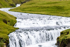 Ijslandse waterval Royalty-vrije Stock Afbeelding