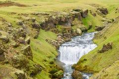Ijslandse waterval Stock Foto's