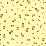 Ijslollyroomijs met het patroon van het kruimeltaartmengsel Kleurrijke achtergrond voor uw ontwerp naadloos Stock Foto