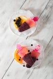 Ijslollys met bosbessen en sinaasappel Royalty-vrije Stock Fotografie