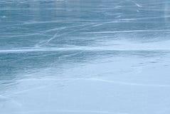 Ijsoppervlakte van het meer royalty-vrije stock foto