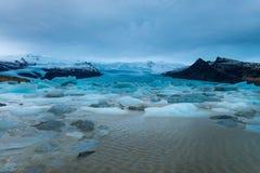 Ijsoverzees, IJsland Stock Foto