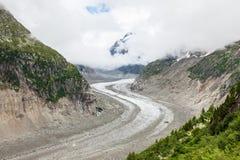 Ijsoverzees - Mer DE glaces in Chamonix - Frankrijk Stock Afbeeldingen
