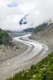 Ijsoverzees - Mer DE glaces in Chamonix - Frankrijk Stock Foto's