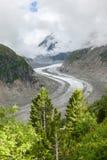 Ijsoverzees - Mer DE glaces in Chamonix - Frankrijk Royalty-vrije Stock Fotografie