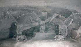 Ijspaleis van Jungfraujoch-Post stock fotografie