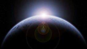 Ijsplaneet stock illustratie