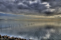 Ijssel lake hdr Royalty Free Stock Images
