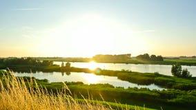 IJsseldelta-Sonnenuntergang stock footage