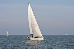ijsselmeer荷兰航行 图库摄影